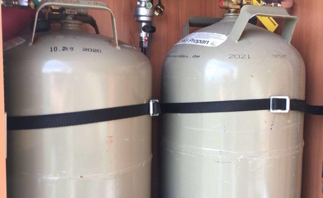 Gasflaschen Hymer M-LT 580