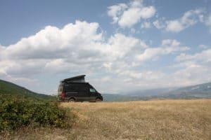 Autark campen in Albanien im Allrad-Camper