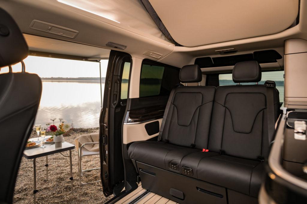 Innenansicht auf die Rücksitzbank des Mercedes Marco Polo