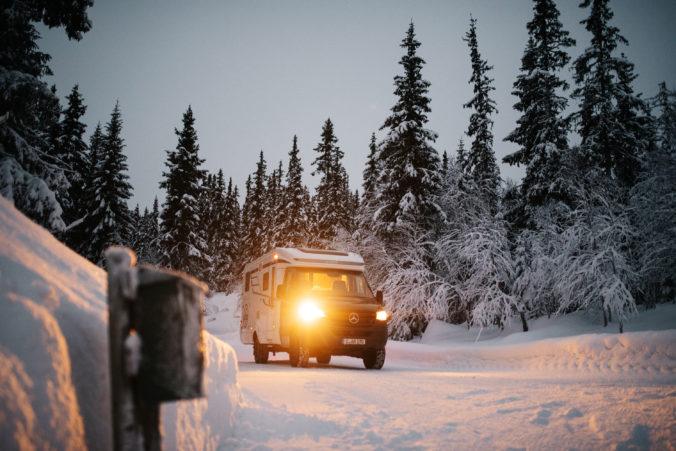 Wintercamping im Allradreisemobil