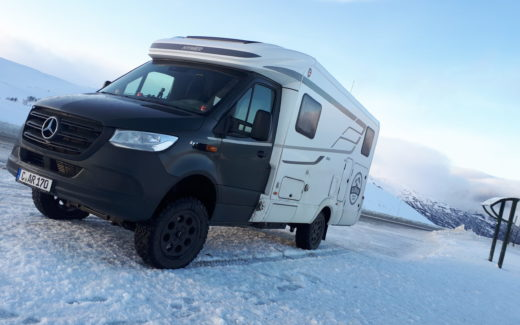 Allrad Camper HYMER ML-T 580 beim Wintercamping