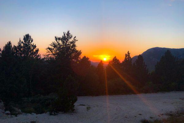 Sonnenuntergang im Orjen-Gebirge