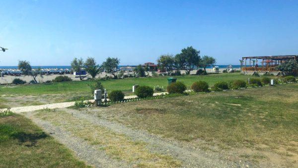 Leerer Campingplatz Safari Beach in Ulcinj