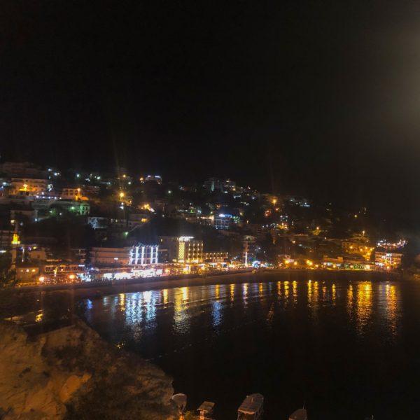 Stadtstrand Ulinj Montenegro vom Restaurant Teuta