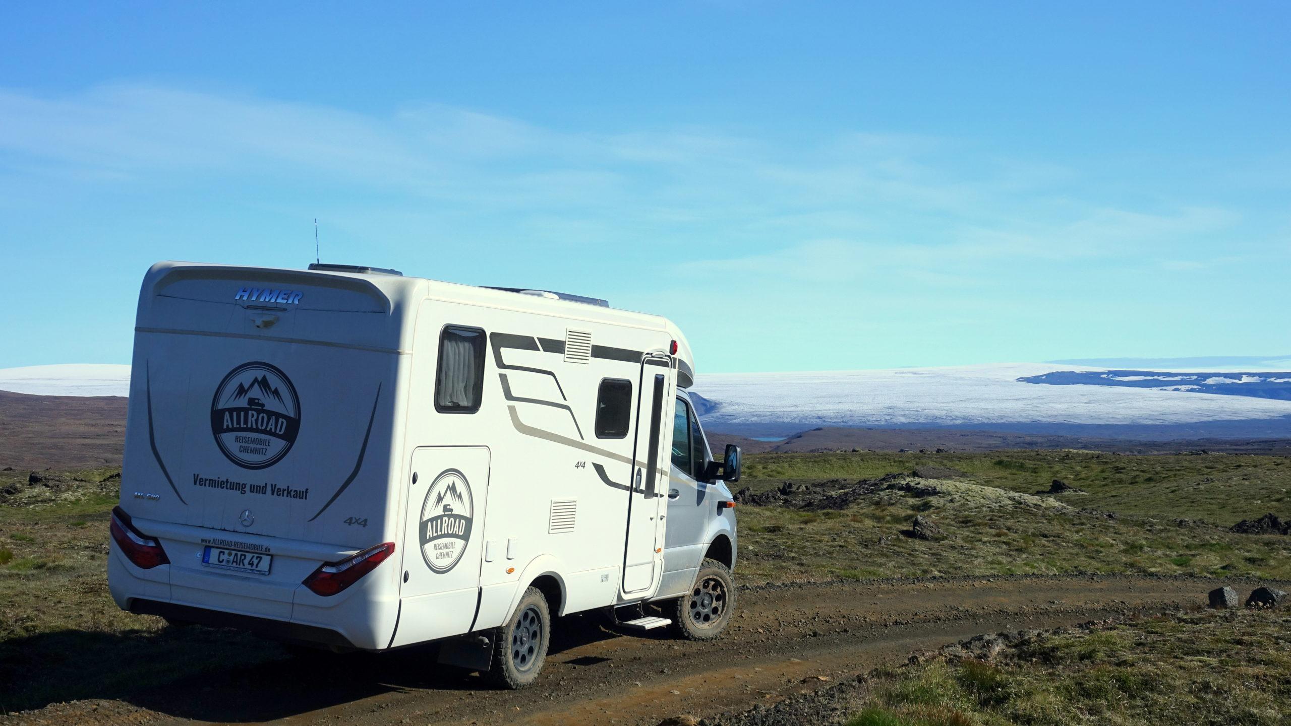 Hymer MLT 580 4x4 auf einer F-Straße in Island