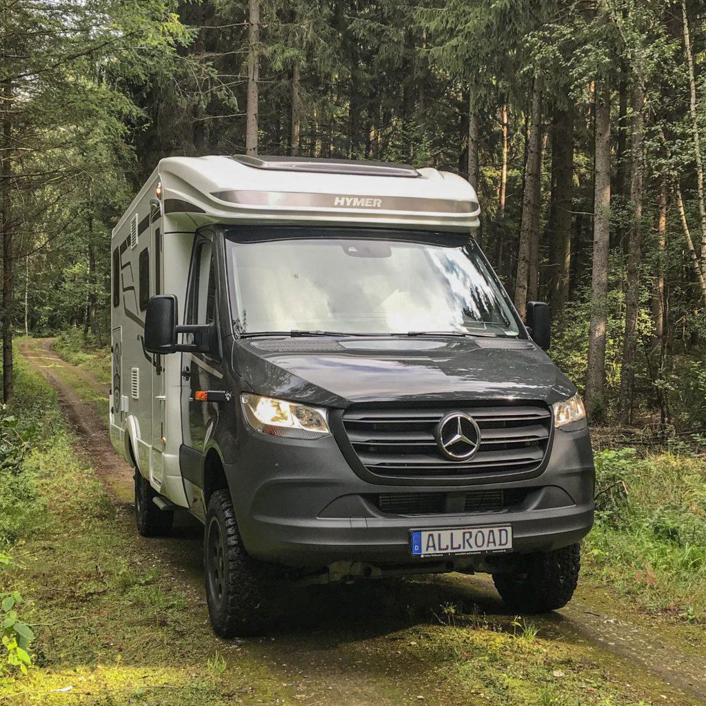 Hymer MLT 580 4x4 im Wald
